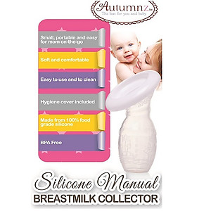 Autumnz Silicone Manual Breastmilk Collector (FOC Hygiene Cover)