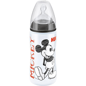 Nuk Premium Choice Mickey & Minnie With Silicone Teat 300ml/10z (BPA Free)-1pc