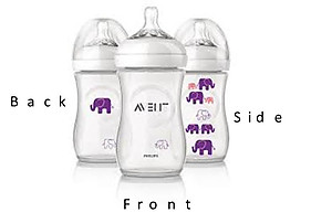 Philips Avent Natural Bottle 260ml/9oz (1pc) - BPA Free ( Elephant Design )