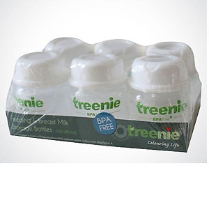 Treenie Breastmilk Storage Bottles 2oz/60ml (6pcs)