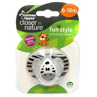 Tommee Tippee Closer To Nature - Fun Style Soother 6-18 Months (1pc) Pacifier