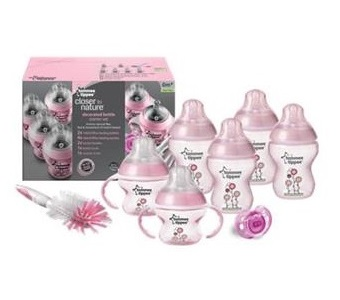 Tommee Tippee Closer To Nature Decorated Bottle Newborn Starter Set