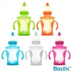 Basilic Training Cup With Silicone Teat 240ml / 8oz (BPA Free) (1pc) - D052