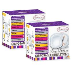 Autumnz Lacy Deluxe Disposable Breastpads (36pcs) - 2 Boxes