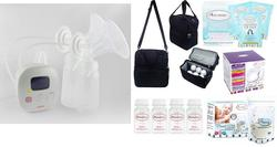 Cimilre F1 Rechargeable Double Breast Pump + Autumnz POSH Cooler Bag (1pc)+ Autumnz Reusable Ice Pack (3pcs)+Autumnz Breastmilk Storage Bottles (4pcs)+Autumnz Breastmilk Storage Bag (25pcs) (1 box) + Autumnz Disposable Breast Pads (1box)