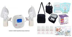 Cimilre F1 Rechargeable Double Breast Pump With Hands Free Breastshield Cup Set With Free Gifts