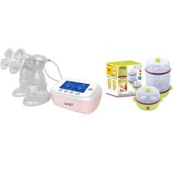 Lacte Duet Elite Electric Breast Pump + Free Autumnz 2 In 1 Electric Steriliser & Food Steamer