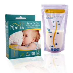 Malish Save 'N Go Breast Milk Bags 10oz (25pcs)