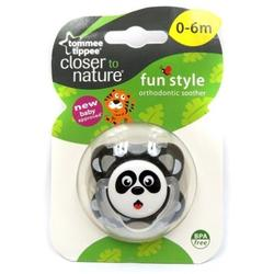 Tommee Tippee Closer To Nature - Fun Style Soother 0-6 Months (1pc) Pacifier