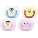 Philips Avent Classic Orthodontic Pacifier Animal Design 0-6 Months - 2pcs (Soother)