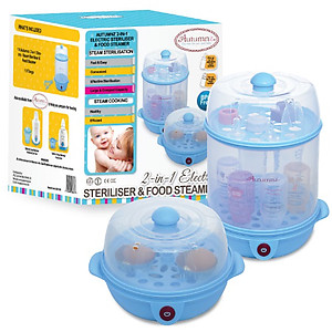 Autumnz 2 In 1 Electric Steriliser & Food Steamer With Free Gift