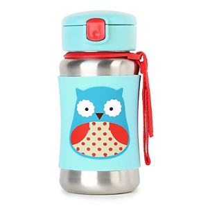 Skip Hop Zoo - Stainless Steel Straw Bottle 350ml/12oz