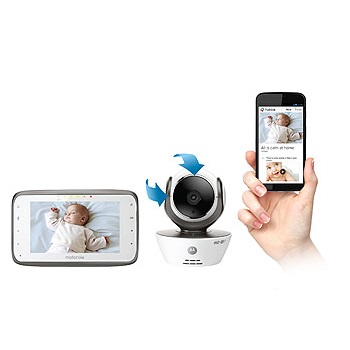 Motorola Digital Video Baby Monitor With WIFI Internet Viewing MBP854