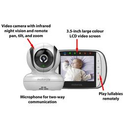 Motorola Digital Video Baby Monitor MBP36S