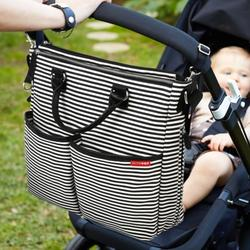 Skip Hop Duo Deluxe Diaper Bag - Black Stripe (Limited Edition)