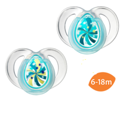 Tommee Tippee Closer To Nature - Night Time Soother 6-18 Months (2pcs) (Pacifier)