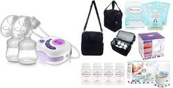 Autumnz SERENE Convertible Double Electric Breast Pump +Autumnz POSH Cooler Bag + Autumnz Reusable Ice Pack (3pcs) + Autumnz Breastmilk Storage Bottle (4pcs)+Autumnz Disposable Breastpads (1 Box)+Autumnz Breastmilk Storage Bags (1 Box)